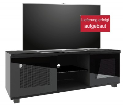 premium tv m bel luxala schwarz von vcm. Black Bedroom Furniture Sets. Home Design Ideas