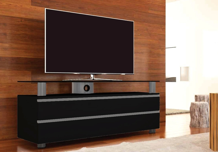 tv lowboard dasano schwarz mit overboard von vcm. Black Bedroom Furniture Sets. Home Design Ideas