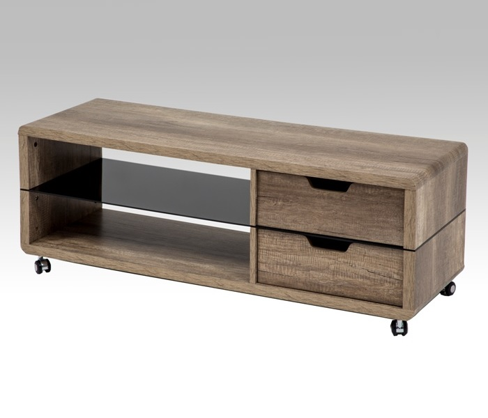 tv rack nils fernsehwagen mit rollen eiche sonoma. Black Bedroom Furniture Sets. Home Design Ideas